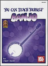 LEARN TO PLAY BANJO WITH MEL BAY YOU CAN TEACH YOURSELF BANJO BOOK CD DVD NEW!