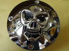 HARLEY SPORTSTER 1991 THRU 2003 1200/883 CHROME RAISE SKULL CLUTCH COVER INSPECT