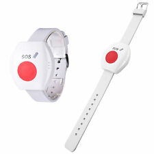 Wireless SOS Wrist Wristband Panic Button Alarm Sensor Emergency 433MHz White
