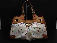 Auth LOUIS VUITTON Ursula Shoulder Bag Monogram Multi-Color white 6G120380m