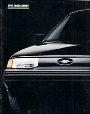 Ford Escort 1991 USA Market Sales Brochure Pony LX GT Wagon