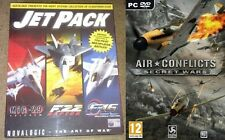 jet pack (mig 29 - f22 raptor - f 16) & air conflicts secret wars   new&sealed
