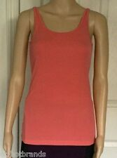 EILEEN FISHER Tank Top Coral 100% Silk Jersey $98 NWT New SZ XS/TP