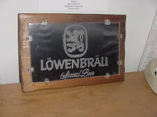 """""""Lowenbrau"""" Special Beer, Glass and Wood Sign"""