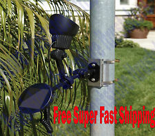 LED Solar Powered Flag Pole Spot Light Spotlight Flagpole Dusk To Dawn