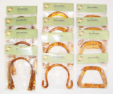 Purse Handle  Sample Pack - 1 dozen sets- acrylic tortoise shell Handles USA