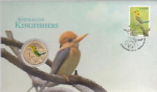 2013 Australian Kingfishers FDC/PNC With Commemorative $1 Coin  Melbourne Vic PM