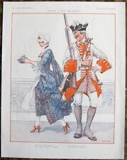 HEROUARD 1926 La Vie Parisienne Print SEXY SERVING WENCH REGENCY SOLDIER