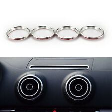4pcs Silver A/C Air Condition Vent Outlet Ring Cover Trim For A3 S3 2013-15 Audi
