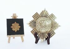 Scots Guards - LARGE Solid Brass display Cap Star (15cm x 15cm)