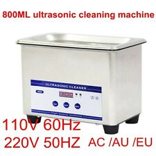 800mL Digital Ultrasonic Wave Dental Jewelry Eyeglass Cleaner Cleaning Equipment