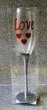 AMORE SAN VALENTINO LOVE BICCHIERE A CALICE CON DECORAZIONI CUORI E STRASS LOVE2