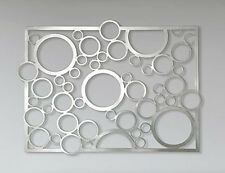 Abstract Stainless Steel Wall Sculpture Art Metal Decor Laser Cut Bubbles SS