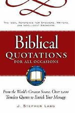 Biblical Quotations for All Occasions : From the World's Greatest Source, Over 2