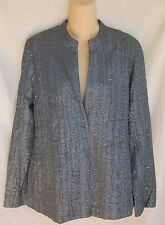 EILEEN FISHER SEQUINED WAVE STAND BACK SEAMS JACKET S