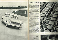 PUBLICITE ADVERTISING  1957   SIMCA ARIANE  ( 2 pages)
