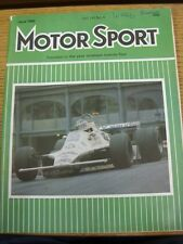 Jun-1980 Motor Sport Magazine: Weekly Motoring Newspaper Vol  LVI No.6 - Outstan