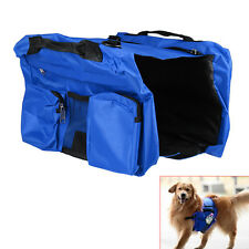 New Pet Dog Puppy Bag Backpack Saddle Harness Pack Travel Camping Outdoors Blue