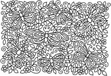 Butterfly background design pattern A6 clear craft rubber stamps