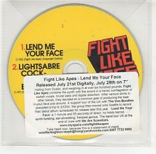 (GG713) Fight Like Apes, Leand Me Your Face - 2008 DJ CD