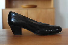 Bruno Magli Damen Pumps Budapester schwarz Schuhe UK small 3 Leder TRUE VINTAGE