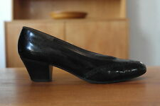 Bruno Magli señora pumps Budapester negro zapatos UK Small 3 cuero True Vintage