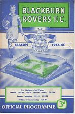 BLACKBURN ROVERS V SUNDERLAND 23 MARCH 1965 TOP DIV 50 YEARS AGO  VGC