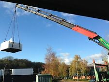 Hot tubs.Hiab crane hire, shipping container,oil tank,transport,stores,boats.