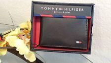Tommy Hilfiger Men's Passcase & Valet Wallet - Black Leather