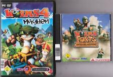 Worms continua sotto assedio + Worms 4 IV MAYHEM Team 17 COLLEZIONE GIOCHI PC