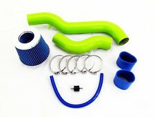 88-91 Civic CRX Si EX 1.6 L4 Green Cold Air Intake System Kit - Blue Filter