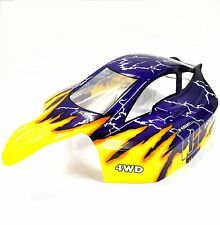 81363 Off Road Nitro RC 1/8 Scale Buggy Body Shell Yellow Blue HSP Cut Shell