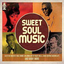 50 SWEETEST SOUL MUSIC SOUNDS NEW 2 CD 50's + 60's VINTAGE SOUL HITS