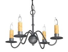 Colonial Primitive Country Lighting wrought iron style metal chandelier C323-4