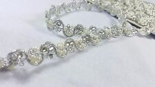 1.5cm- 1 meter snake style silver beaded braid lace trimming for crafts decor