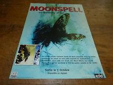 MOONSPELL - Publicité de magazine / Advert THE BUTTERFLY EFFECT - SORTIE  !!!!!