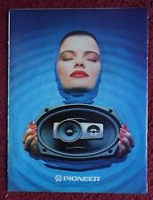 1988 Print Ad Pioneer Car Audio Stereo System ~ Pretty Girl Head Above Water