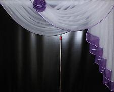 Deko - Gardine, Store, Vorhang in der Farbe lila / weiss