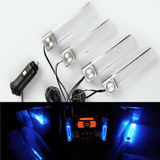 1X4in1 Hot Fashion Remodel Car Interior DIY Floor Atmosphere Blue Colorful Light