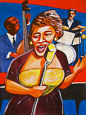 ELLA FITZGERALD PRINT poster jazz trio songbook cd ray brown bass krupa drums