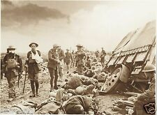 Battle of Menin Road Belgium Wounded 1917 World War 1, 7x5 Inch Reprint Photo