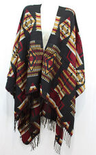 Plus Size Women Winter Batwing Style Heavy/Warm Poncho/Cardigan Sweater Coat#936