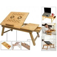 TRI- Laptop Table e table Study Reading without Cooling Fan Bamboo