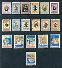 Portuguese India 534-551 MNH Early Governors, Maps of Forts 1956, x19324