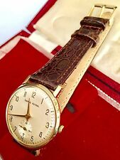 Vintage Smiths Astral 9ct Gents Gold Wind Up Wrist Watch In Fantastic Condition