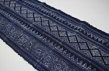 Hmong Traditional Graphic Fabric Hand printed Vintage Style Batik Fabric 10003