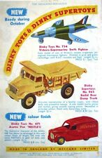 1955 Dinky Toys ADVERT Austin Van, Supermarine Swift Airplane - Vintage Print AD