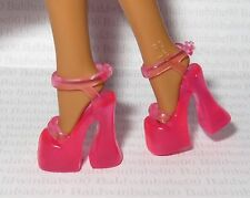 SHOES ~BARBIE DOLL 1 MODERN CIRCLE OPEN TOE ANKLE STRAP PLATFORM HIGH HEEL