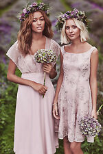 NEW MONSOON NUDE LACE EMBELLISHED EMBROIDERED  WEDDING PROM PARTY DRESS 18 £139