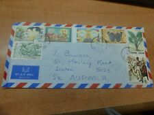 Thailand Butterfly and more, 7 stamps on A/M to Australia (116bed)